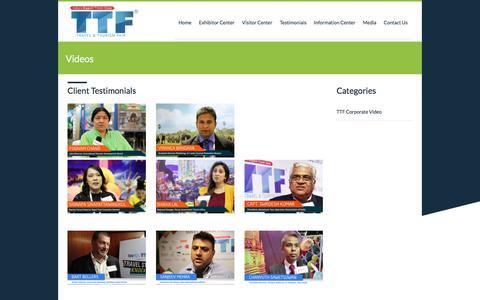 Screenshot of Testimonials Page ttfotm.com - Videos | India's Largest Tourism Fair Network - captured Oct. 13, 2017