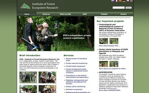 Screenshot of Home Page ifer.cz - IFER - captured Aug. 2, 2015