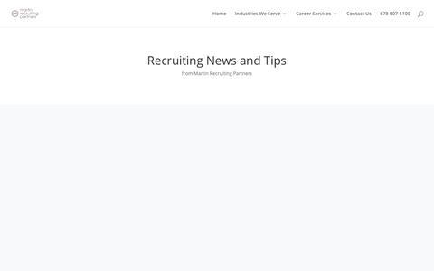 Screenshot of Blog mrpnow.com - Hospitality Recruiting News | Martin Recruiting Partners - captured Oct. 17, 2018