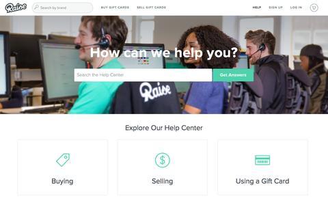 Screenshot of FAQ Page raise.com - Raise |        Portal - captured June 24, 2016