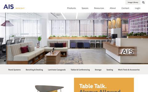 Screenshot of Home Page ais-inc.com - AIS - captured Nov. 12, 2018