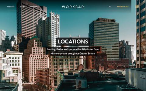 Screenshot of Locations Page workbar.com - (2) New Messages! - captured Dec. 17, 2018