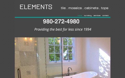 Screenshot of Home Page elements-llc.com - elements-llccom - captured Sept. 12, 2015