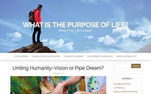 Screenshot of Home Page life-purpose.org - What Is the Purpose of Life? - What Is Your Life Purpose? - captured Nov. 7, 2018