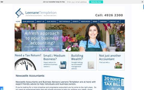 Screenshot of Home Page newcastle-accountants.com.au - Newcastle Accountants and Newcastle Business advisors - captured Nov. 6, 2016