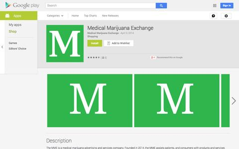 Screenshot of Android App Page google.com - Medical Marijuana Exchange - Android Apps on Google Play - captured Nov. 3, 2014
