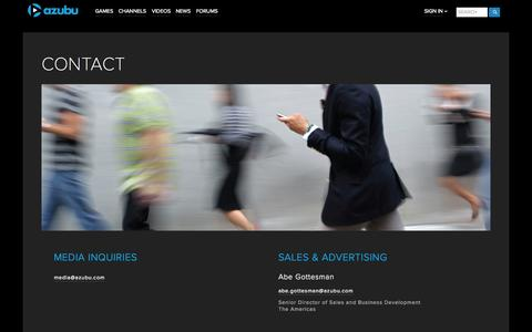 Screenshot of Contact Page azubu.tv - Contact us | Azubu - captured Sept. 13, 2014