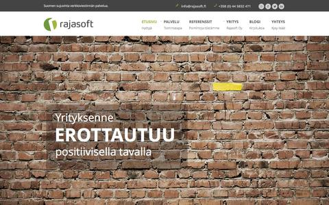 Screenshot of Home Page rajasoft.fi - Rajasoft Oy | Suomen sujuvinta verkkoviestinn�n palvelua - captured Jan. 10, 2016
