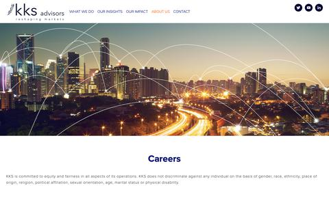 Screenshot of Jobs Page kksadvisors.com - Careers — KKS Advisors | Strategy Consulting - captured Oct. 14, 2018