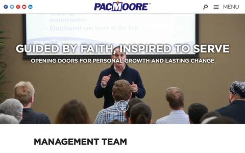 Screenshot of Team Page pacmoore.com - Management Team | PacMoore | Food Manufacturing & Processing - captured Oct. 16, 2016