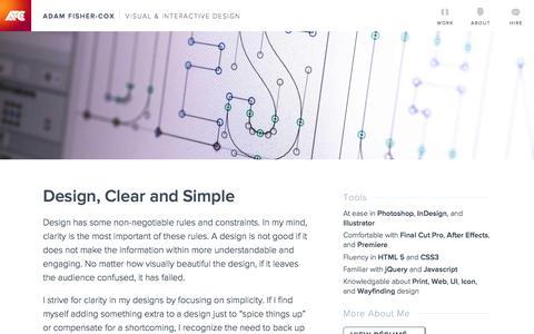 About   Adam Fisher-Cox, Visual & Interactive Designer