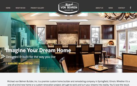 Screenshot of Home Page mvbbuilder.com - Custom Home Building and Remodeling in Springfield, Illinois - Michael von Behren Builder, Inc. - captured Oct. 9, 2015