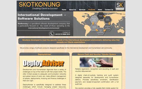 Screenshot of Products Page skotkonung.com - Products | Skotkonung - captured Oct. 26, 2014