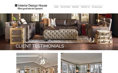 Screenshot of Testimonials Page interiordesignhouse.com - Interior Design House | Client Testimonials - captured June 8, 2017