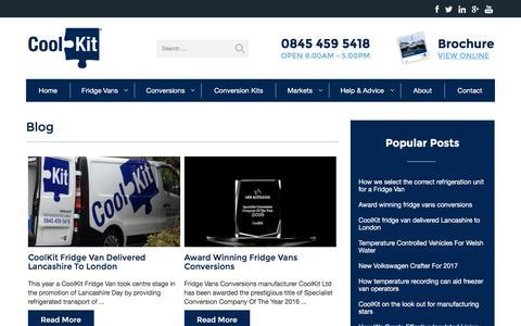Screenshot of Blog coolkit.co.uk - Blog | Coolkit - captured Dec. 26, 2016