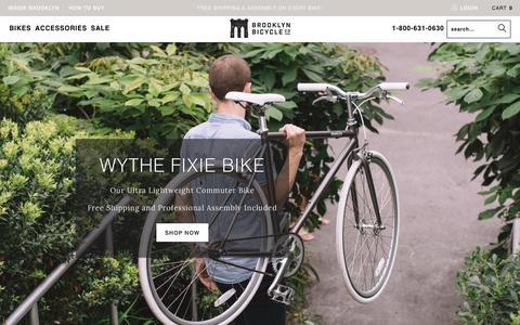 Screenshot of Home Page brooklynbicycleco.com - City Bikes, Commuter Bikes, Single Speed | Brooklyln Bicycle Co. - captured Nov. 6, 2018