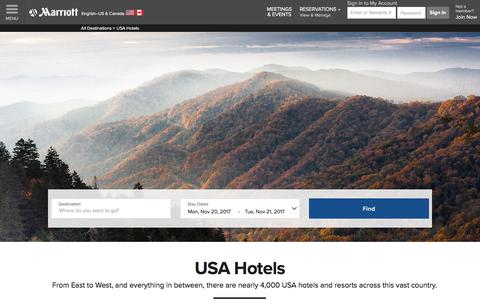 Top Hotels in the United States | Marriott USA Hotels