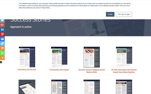 Screenshot of Case Studies Page earthnetworks.com - Customer Success Stories | Earth Networks - captured Aug. 24, 2018
