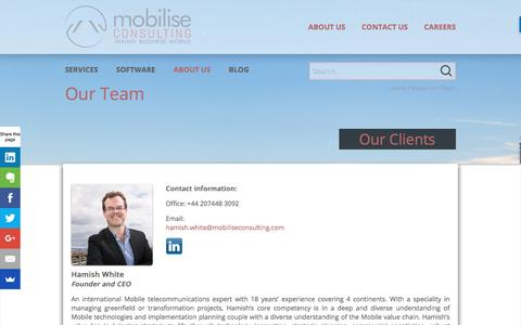 Screenshot of Team Page mobiliseconsulting.com - Team - Mobilise Consulting - captured Aug. 12, 2016