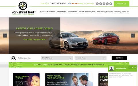 Screenshot of Home Page yorkshirefleet.co.uk - Local Car Leasing and Finance Experts | Yorkshire Fleet - captured Nov. 8, 2019