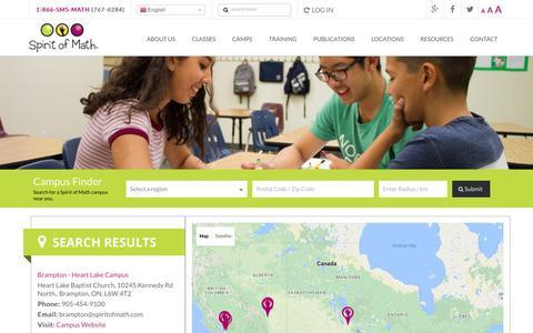 Screenshot of Locations Page spiritofmath.com - Campuses | Spirit of Math Schools - captured Dec. 1, 2016