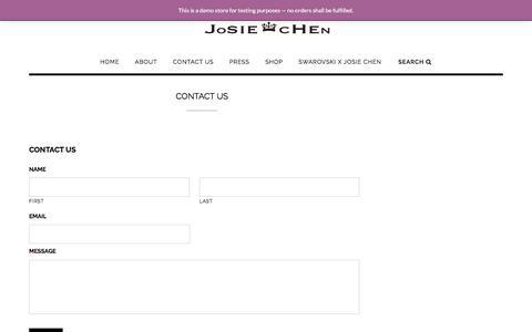 Screenshot of Contact Page josiechenrange.com - Contact Us - Josie Chen Range - captured June 8, 2017