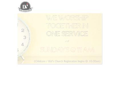 Screenshot of Home Page doralvineyard.com - Doral Vineyard Church / Welcome / Welcome - captured Sept. 12, 2015
