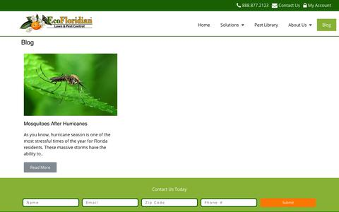 Screenshot of Blog ecofloridian.com - Blog | EcoFloridian Lawn & Pest Control - captured Sept. 27, 2018
