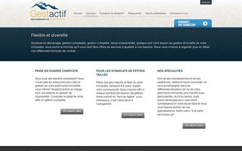 Screenshot of Services Page gestactif.com - Services   Gestactif - captured Oct. 2, 2014