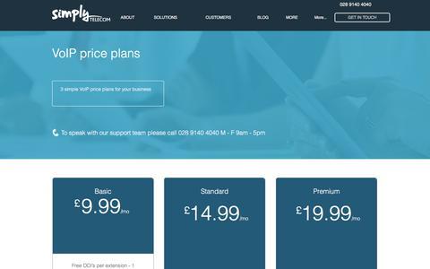 Screenshot of Pricing Page simplytelecom.co.uk - Simply Telecom - VoIP - captured Oct. 21, 2017