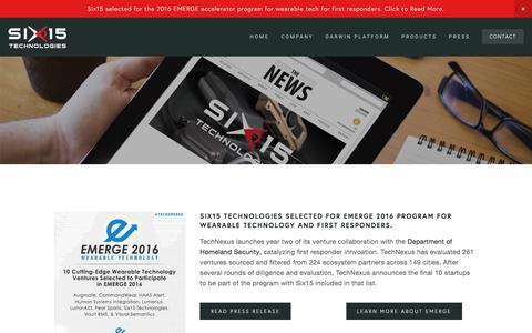 Screenshot of Press Page six-15.com - Press — Six15 Technologies - captured Dec. 19, 2016