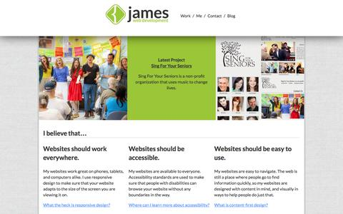 Screenshot of Home Page Site Map Page jameswebdevelopment.com - Twitter Icon - captured May 21, 2016