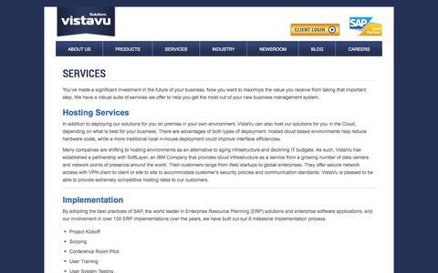 Screenshot of Services Page vistavusolutions.com - Oilfield Software | VistaVu Services - captured Nov. 17, 2015