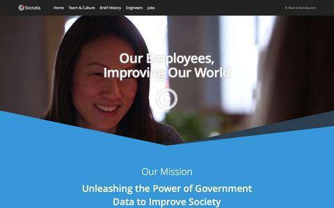 Screenshot of Jobs Page socrata.com - Socrata Careers - captured April 4, 2016