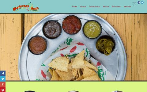 Screenshot of About Page Locations Page habanerosgrill.com - Habaneros | Tortillas, Salsas and Margaritas! - captured Oct. 27, 2014