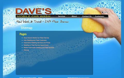 Screenshot of Site Map Page davesmobilecarwash.com - Dave's Mobile Car Wash | Louisiana & Mississippi - captured Sept. 30, 2014