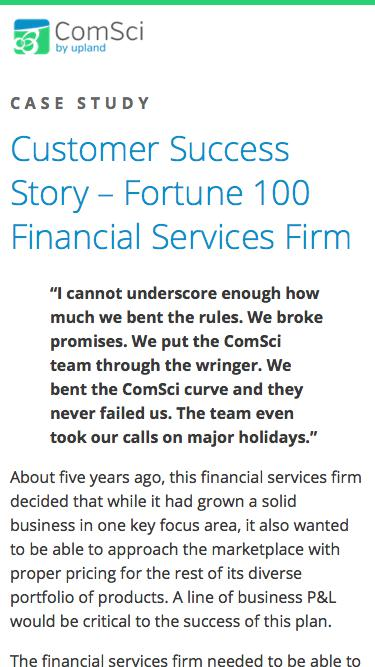 Fortune 100 Financial Services Firm
