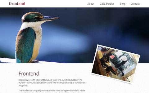 Screenshot of About Page frontend.co.nz - Frontend Design - Simplify your customer's life - captured Oct. 6, 2014