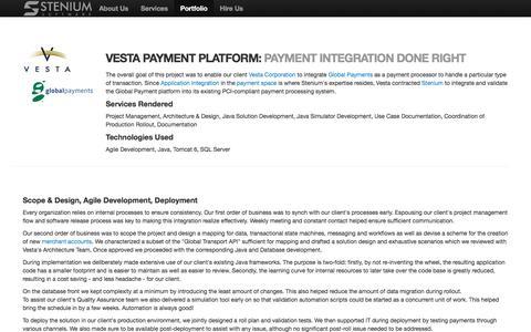 Screenshot of Blog stenium.com - Vesta Payment Platform:  Payment Integration Done Right - captured Nov. 9, 2017