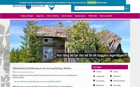 Screenshot of Home Page bollnas.se - Bollnäs kommun - captured Oct. 16, 2018