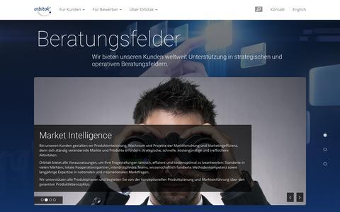 Screenshot of Case Studies Page orbitak.com - Für Kunden - Orbitak AG. Global Consulting made in Germany. - captured Feb. 14, 2016