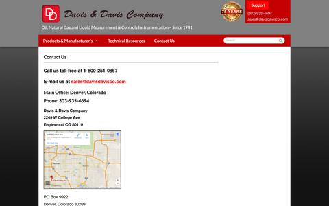 Screenshot of Contact Page davisdavisco.com - Contact Us - Davis & Davis - captured Nov. 24, 2016
