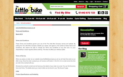 Screenshot of Terms Page thelittlebikecompany.co.uk - Terms & Conditions | Little Bike Company - captured Oct. 6, 2014