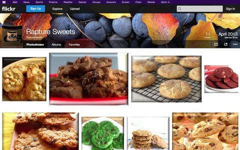 Screenshot of Flickr Page flickr.com - Flickr: RaptureSweets' Photostream - captured Oct. 26, 2014