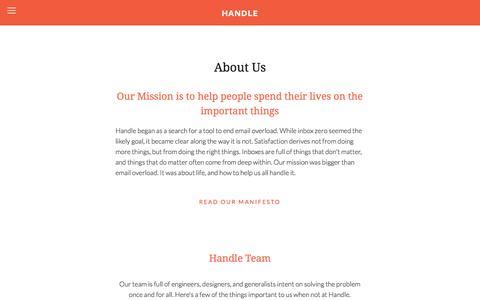 Screenshot of Team Page handle.com - Team Ń Handle - captured Nov. 20, 2015