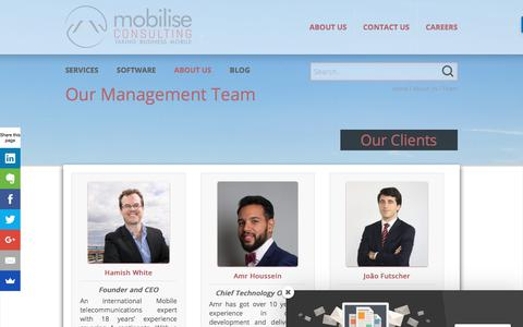 Screenshot of Team Page mobiliseconsulting.com - Team - Mobilise Consulting - captured Sept. 20, 2018