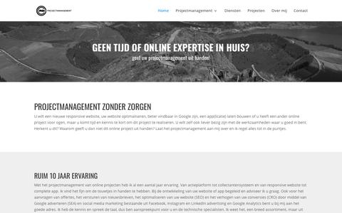 Screenshot of Home Page Support Page c-moi.nl - Home - C-MOI projectmanagement - captured May 11, 2017