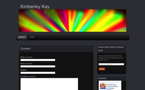 Screenshot of Contact Page wordpress.com - Contact | Kimberley Kay - captured Sept. 12, 2014