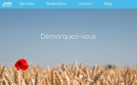Screenshot of Home Page agence-jhn.fr - Agence Web JHN - captured Oct. 7, 2017