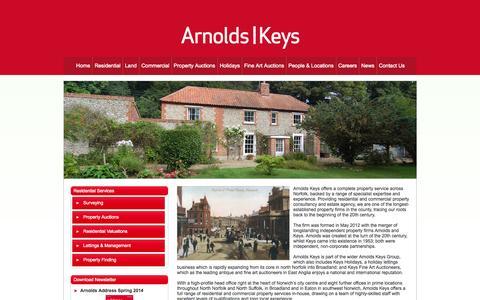 Screenshot of About Page arnoldskeys.com - Arnolds Keys   Property Specialists Norfolk   About Us - captured Oct. 4, 2014